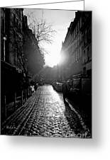 Evening Walk In Paris Bw Greeting Card