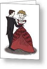 Evening Waltz Greeting Card