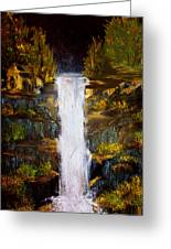 Evening Waterfall Greeting Card