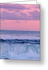 Evening Waves 2 - Jersey Shore Greeting Card