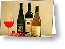 Evening Wine Display Greeting Card