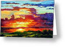 Evenings Final Glow Greeting Card