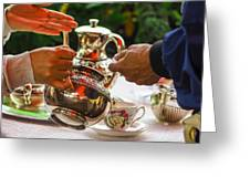 Event - Tea Garden Party - Serving Greeting Card