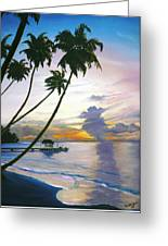 Eventide Tobago Greeting Card by Karin  Dawn Kelshall- Best