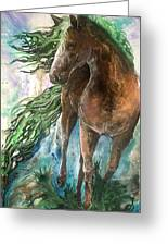 Ever Green  Earth Horse Greeting Card