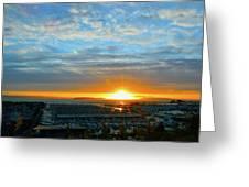 Everett Marina Sunset Greeting Card