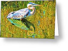 Everglades Blue Heron Greeting Card