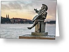 Evert Taube - Stockholm Greeting Card