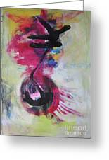 Everything A Mistake-abstract Red Painting Greeting Card