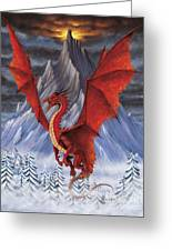 Evil Red Dragon Greeting Card