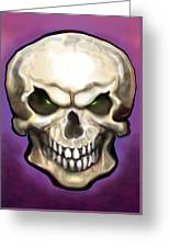 Evil Skull Greeting Card