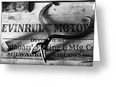 Evinrude Motors Crate Circa 1940s Greeting Card