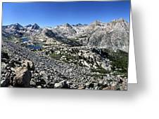 Evolution Lake And Valley Panorama From Darwin Bench - Sierra Greeting Card