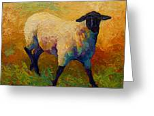 Ewe Portrait Iv Greeting Card by Marion Rose