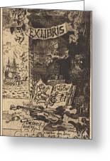 Ex-libris De L?on Lerey (ex-libris Of Leon Lerey) Greeting Card