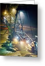 Excavator Coalmine Garzweiler  Greeting Card