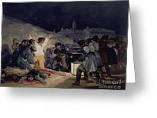 Execution Of The Defenders Of Madrid Greeting Card
