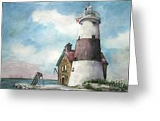 Execution Rocks Lighthouse Greeting Card