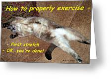 Exercise 101 Greeting Card