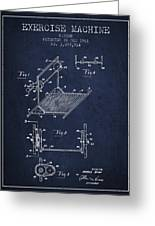 Exercise Machine Patent From 1961 - Navy Blue Greeting Card