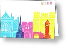 Exeter Skyline Pop Greeting Card