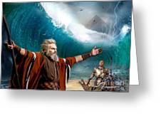 Exodus Moses And Pharaoh  Of Egypt Greeting Card