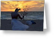 Exorcism Facing The Sea Greeting Card