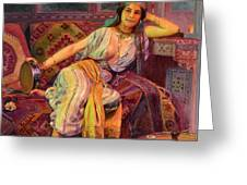 Exotic  Beauty Greeting Card by Pg Reproductions
