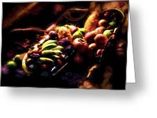 Exotic Fruit Platter Greeting Card