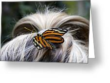 Exotic Hairdo Greeting Card