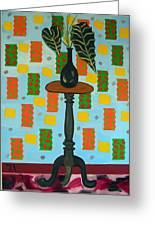 Exotic Plant On Stand Greeting Card