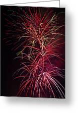 Exploding Festive Fireworks Greeting Card