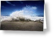 Exploding Seas Greeting Card