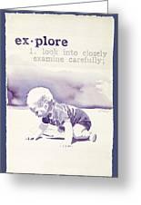 Explore Greeting Card