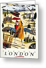 Explore London With A London Transport Explorer Pass - London Underground - Retro Travel Poster Greeting Card