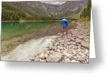 Exploring Glacier Greeting Card