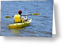 Exploring In A Kayak Greeting Card