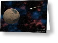 Exploring Planet Mars Greeting Card