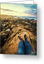 Exploring The Beaches Of Western Tasmania Greeting Card