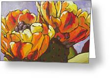 Explosion Of Color Greeting Card by Sandy Tracey
