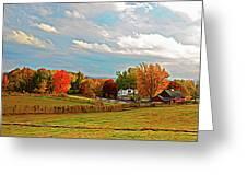 Expressionalism Autumn Farm Greeting Card