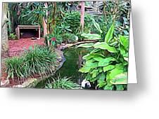 Expressionalism Beautiful Garden  Greeting Card