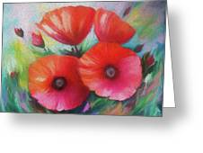 Expressionist Poppies Greeting Card