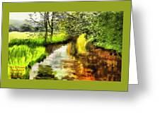 Expressionist Riverside Scene L A Greeting Card