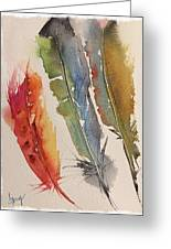 Feather Expressions Greeting Card