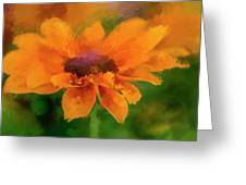 Expressive Sunflower Greeting Card
