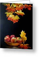 Expression Of Yellow Leaves. Greeting Card