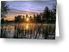 Exquisite Sunrise On The Androscoggin River 2 Greeting Card