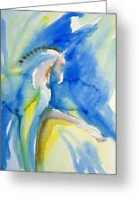 Extended Trot In Blue Greeting Card