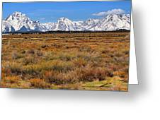 Extended Willow Flats Panorama Greeting Card